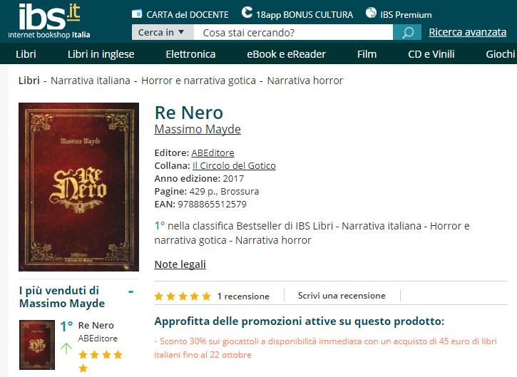 Re Nero Massimo Mayde su IBS