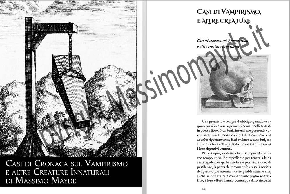 Dell'origine del vampiro e altre creature della notte, di Massimo Mayde
