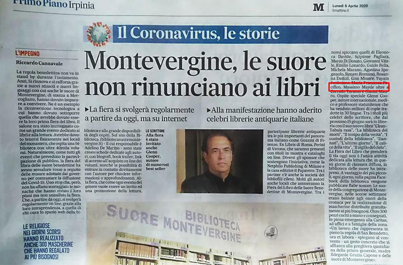 Alla fiera del libro: Biblioteca di Montevergine